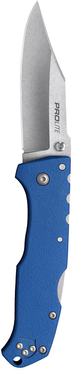 Нож складной Cold Steel Pro Lite, цвет: синий, длина клинка 3 1/2. CS/20NSCLUCS/20NSCLUНож Cold Steel Pro-Lite - долгожданная новинка 2017 года - была разработана с одной четкой целью. Чтобы предложить пользователю складной нож с максимальной прочностью и долговечностью, которые покупатели марки Cold Steel ожидают от этого производителя, но по еще более доступной цене! В Pro-Lite, спроектированном знаменитым мастером-ножеделом Андреем Демко, клинок сатинирован и выполнен из нержавеющей стали 4116 и имеет очень острый режущий край, при этом невероятно легко будет многократно резать им в полевых условиях.