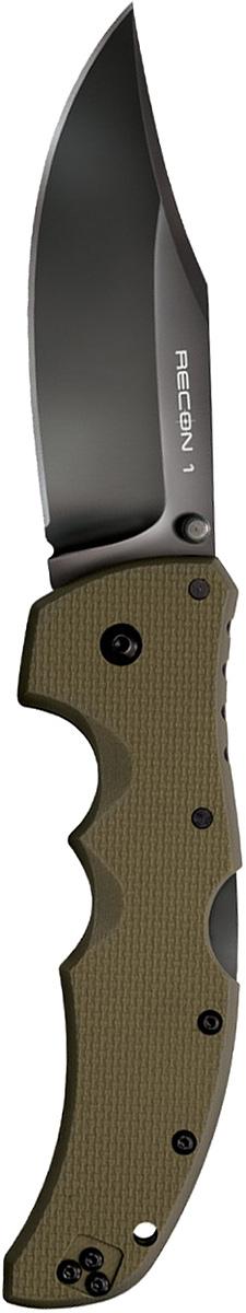 Нож складной Cold Steel Recon 1, цвет: зеленый, длина клинка 4CS/27TLCVGСерия тактических складных ножей Recon 1 обладает максимальной прочностью, долговечностью и надёжностью, которую можно вообразить в складном ноже.Лезвие ножа Cold Steel Recon 1— изготовлено из американской стали CTS-XHP и обработано не отражающим покрытием DLC. Рукоять ножа выполнена из высококлассного G-10, а благодаря её форме, нож идеально и прочно сидит в руке.Замок TRI-AD Lock позволяет здесь выдерживать нагрузку в 90кг., давая огромный запас надёжности замку этого ножа. Cold Steel 27TLCC Recon 1 Clip Point — лёгкий, тонкий и невероятно жёсткий. Лезвие ножа в стиле Tanto многим придётся по душе. Нож подходит для использования, как правшам, так и левшам.