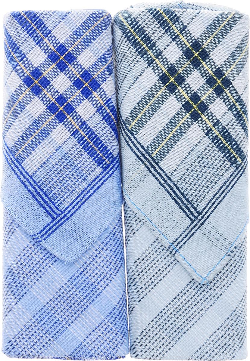 Платок носовой мужской Zlata Korunka, цвет: синий, серый, 2 шт. 40213-13. Размер 38 см х 38 смАжурная брошьОригинальный мужской носовой платок Zlata Korunka изготовлен из высококачественного натурального хлопка, благодаря чему приятен в использовании, хорошо стирается, не садится и отлично впитывает влагу. Практичный и изящный носовой платок будет незаменим в повседневной жизни любого современного человека. Такой платок послужит стильным аксессуаром и подчеркнет ваше превосходное чувство вкуса.В комплекте 2 платка.