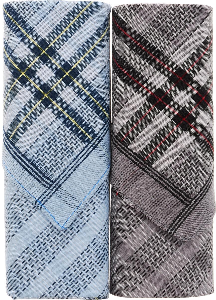 Платок носовой мужской Zlata Korunka, цвет: голубой, серый, 2 шт. 40213-15. Размер 38 см х 38 смБрошь-булавкаОригинальный мужской носовой платок Zlata Korunka изготовлен из высококачественного натурального хлопка, благодаря чему приятен в использовании, хорошо стирается, не садится и отлично впитывает влагу. Практичный и изящный носовой платок будет незаменим в повседневной жизни любого современного человека. Такой платок послужит стильным аксессуаром и подчеркнет ваше превосходное чувство вкуса.В комплекте 2 платка.