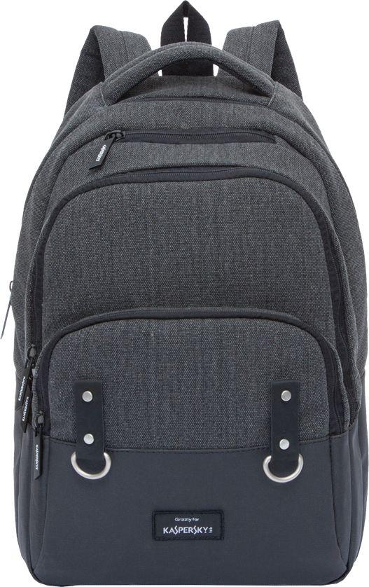 Рюкзак городской мужской Grizzly, цвет: черный, 10,6 лRU-720-4Рюкзак Grizzly выполнен из высококачественного брезента. Изделие оснащено двумя отделениями, объемным карманом с молнией на передней стенке и карманом быстрого доступа в верхней части рюкзака. Рюкзак имеет укрепленную спинку, дополнительную ручку-петлю, мягкую укрепленную ручку и укрепленные лямки. Внутри расположен составной пенал-органайзер и внутренний укрепленный карман для ноутбука.