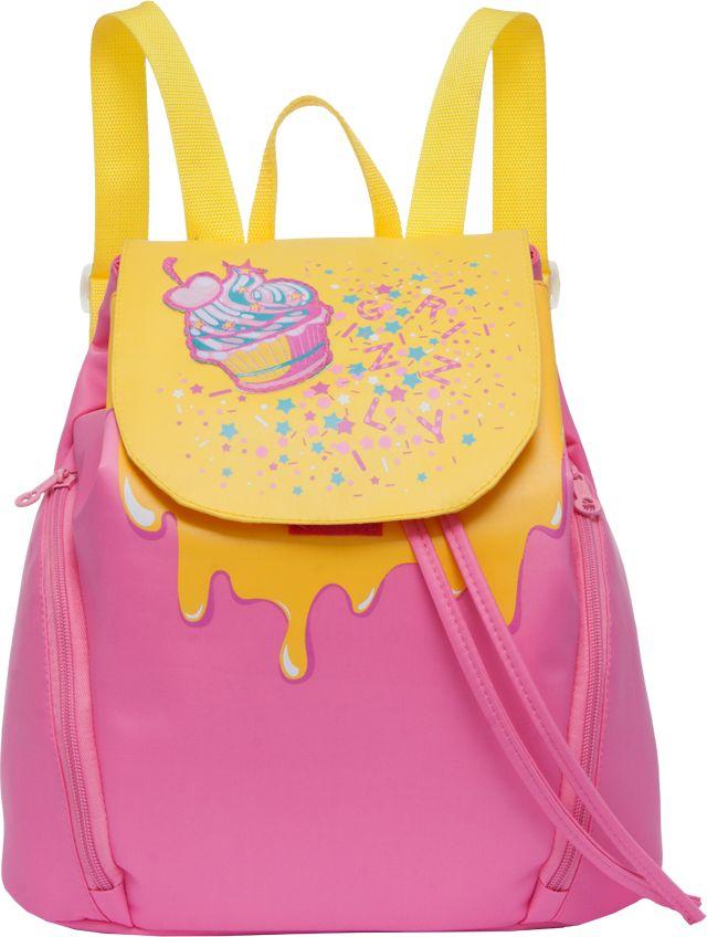 Рюкзак городской женский Grizzly, цвет: розовый, желтый, 9,8 лRD-749-1Рюкзак Grizzly изготовлен из высококачественного нейлона и выполненв оригинальном дизайне. Изделие имеет одно отделение, объемные боковые карманы на молнии, внутренний карман на молнии, внутренний карман-пенал для карандашей, мягкую спинку и мягкие лямки. Рюкзак закрывается затягивающимся шнуром и клапаном.
