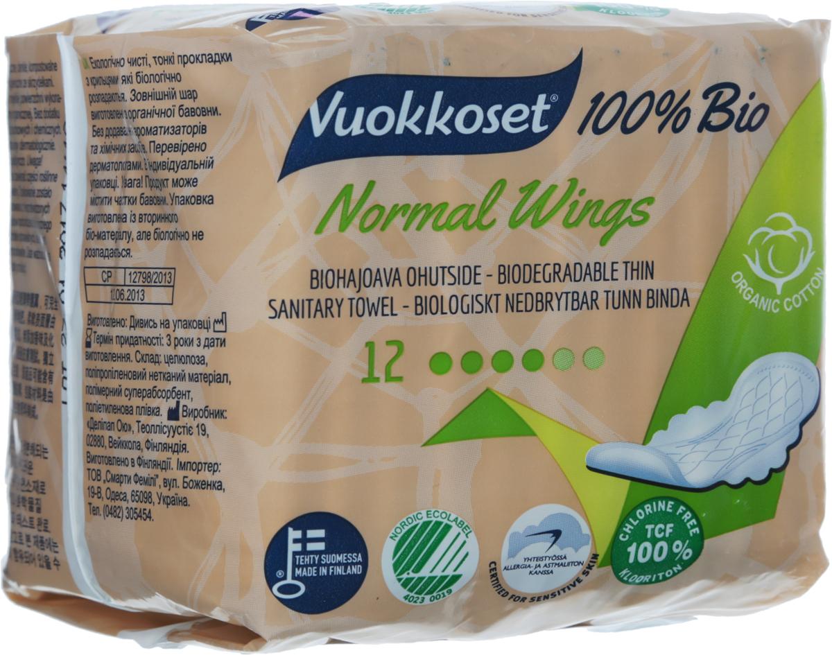 Женские гигиенические прокладки Vuokkoset 100% Bio. Normal Wings, 12 шт89496Ультратонкие удлиненные прокладки с крылышками Vuokkoset 100% Bio. Normal Wings являются экологическими, биоразлагающимися и очень надежными. Супермягкая поверхность создана из натурального органического хлопка, очищенного кислородом. Пропускает воздух.Не содержат формальдегида. Без ароматизации и синтетических материалов. Дерматологически протестированы. Биоразлагаемы на 100%. Каждая прокладка в индивидуальной гигиеничной упаковке, что позволяет брать ее с собой. Характеристики: Количество: 12 шт. Длина прокладки: 22,5 см. Ширина прокладки: 0,2 см. Материал: органический хлопок, целлюлоза без хлора, пленка.Изготовитель: Финляндия. Товар сертифицирован.