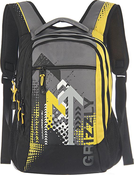 Рюкзак городской мужской Grizzly, цвет: желтый, 14,5 л. RU-506-1RivaCase 8460 aquamarineРюкзак молодежный, три отделения, карман на молнии на передней стенке, боковые карманы из сетки, внутренний карман-пенал для карандашей, внутренний подвесной карман на молнии, жесткая анатомическая спинка, мягкая укрепленная ручка, укрепленные лямки