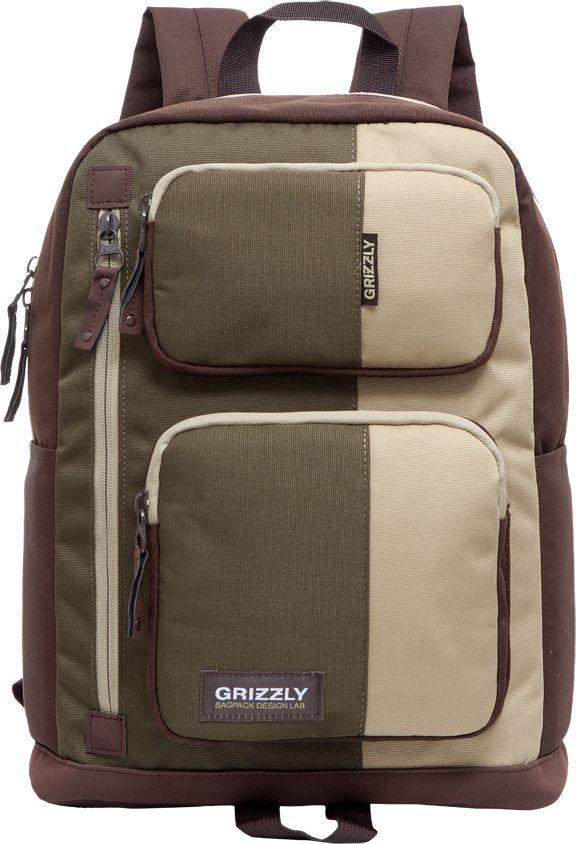 Рюкзак городской мужской Grizzly, цвет: коричневый, 11,9 лRU-619-1Рюкзак Grizzly выполнен из высококачественного таслана. Изделие имеет одно отделение, два объемных кармана на молнии на передней стенке, 2 боковых кармана, внутренний карман на молнии, внутренний укрепленный карман для ноутбука, укрепленную спинку, карман быстрого доступа в передней части рюкзака, карман быстрого доступа на задней стенке, дополнительную ручку-петлю и укрепленные лямки.