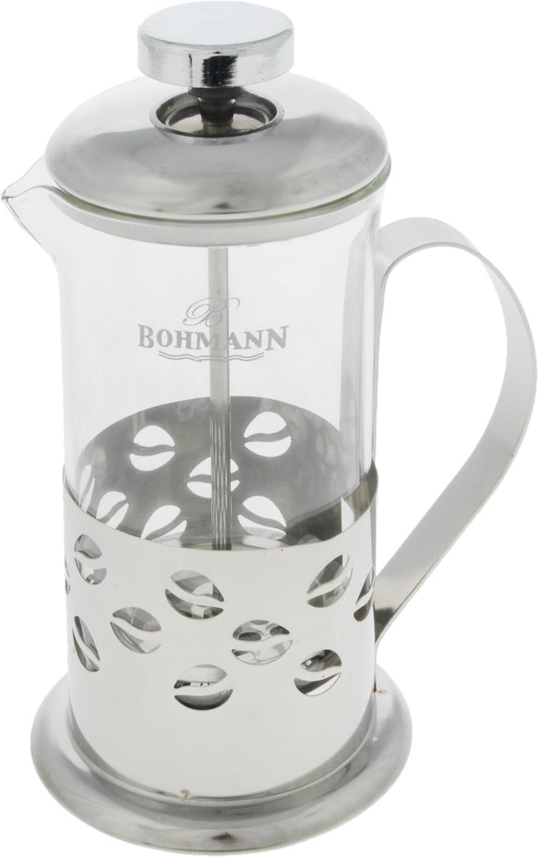 Френч-пресс Bohmann, 350 мл. 9535BHPRG-01_желтФренч-пресс Bohmann используется для заваривания крупнолистового чая, кофе среднего помола, травяных сборов. Изготовлен из высококачественной нержавеющей стали и термостойкого стекла, выдерживающего высокую температуру, что придает ему надежность и долговечность. Френч-пресс Bohmann незаменим для любителей чая и кофе.Можно мыть в посудомоечной машине.Объем: 350 мл.Высота (с учетом крышки): 18 см.Диаметр (по верхнему краю): 7,5 см.