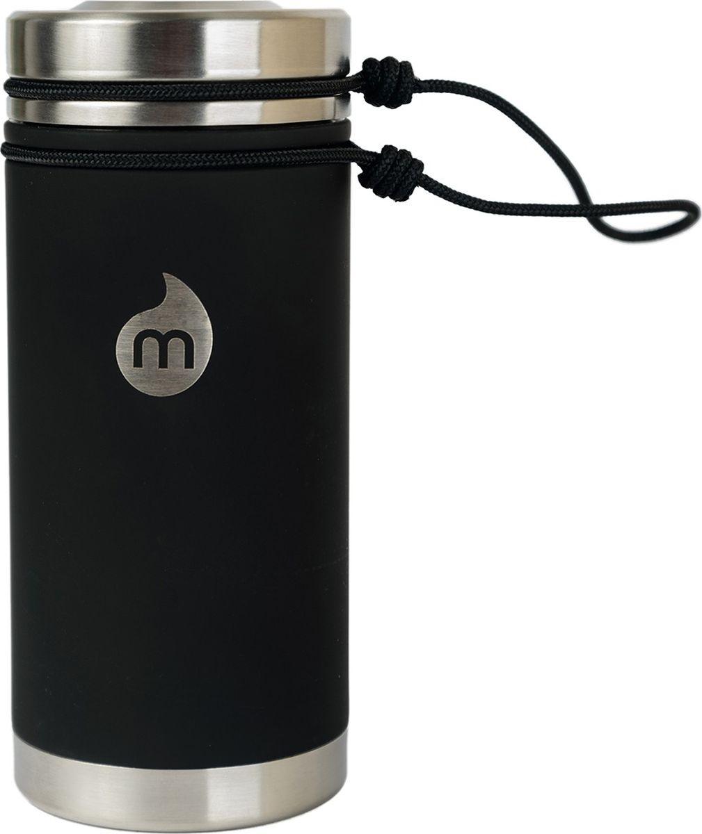 Термобутылка для жидкостей Mizu V5, цвет: черный, 500 млAS009Бутылка Mizu V5 выполнена из нержавеющей стали. Она создана для тех, кто любит брать с собой на работу, например, кофе или чай из дома. Кофейная крышка с дозатором, поэтому такую бутылку можно использовать и как термо-кружку, и как практичный походный термос. Объем: 500 мл. Диаметр: 7,5 см. Высота (с крышкой): 12,6 см. Вес: 263 г.