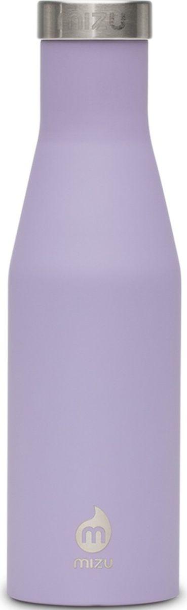 Термобутылка для жидкостей Mizu S4, цвет: лавандовый, 400 мл813551023080Бутылка для воды Mizu S4 выполнена из пищевой нержавеющей стали. Корпус украшен фирменным логотипом. Рэтро-форма и дизайн были вдохновлены старомодной бутылкой для молока. Не содержит вредного BPA.Объем: 400 мл.