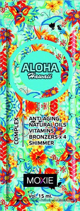 MOXIE Косметика для загара Aloha Hawaii, 15 мл2218Для тела, с комплексом 4 кратных бронзаторов, ДГА, увлажняющее средство, с ускорителями и усилителями.Богатый активными ингредиентами препарат с ускорителем загара и бронзатором, обеспечивает быстрое получение идеально натурального загара. Микрочастички золота, удивительным образом дополнительно укрепляют цвет кожи. Комплекс масел интенсивно увлажняет и обеспечивает уход за кожей. Подходит для всех типов кожи.