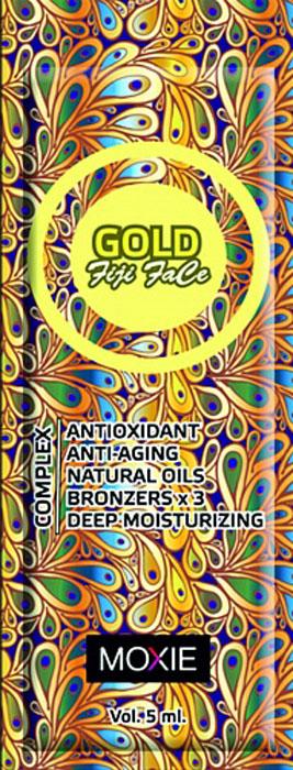 MOXIE Крем для загара Gold Fiji Face, 5 мл87Для лица, с комплексом 3-х кратных бронзаторов, увлажняющее средство, с ускорителями и усилителями.Роскошный крем для лица, в состав которого входят частицы золота, сохранит молодость и упругость Вашей кожи. Удивительный комплекс бронзаторов нового поколения обеспечит получение стойкого, темного, ровного загара. Масло ШИ и Пантенол увлажнят, смягчат, разгладят и успокоят кожу. В его составе отсутствует фильтры UV.