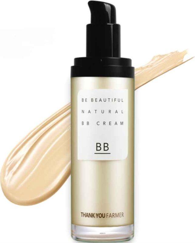 Thank You Farmer Натуральный ВВ-крем SPF30 PA++, 40 мл131100249Пигмент в виде микро-гранул - позволяет коже дышать даже после нанесения ВВ-крема, ложится на кожу невесомым тонким слоем, обладает SPF-защитой.Thank You Farmer Be Beautiful Natural BB Cream обладает слегка мерцающей текстурой, которая визуально скрывает морщинки и неровности кожи, в том числе заметные расширенные поры.- безупречное покрытие, способное скрыть небольшие шрамы, покраснения, купероз;- 3 в 1: безупречный макияж, защита от солнца, коррекция морщин;- выглядит естественно, без ощущения маски и забитых пор, хорошо смывается;- ровная текстура не требует дополнительного нанесения пудры или коррекции в течение дня.