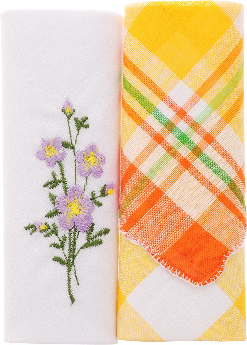 Платок носовой женский Zlata Korunka, цвет: мультиколор, 2 шт. 40222-16. Размер 29 см х 29 смАжурная брошьОригинальный женский носовой платок Zlata Korunka изготовлен из высококачественного натурального хлопка, благодаря чему приятен в использовании, хорошо стирается, не садится и отлично впитывает влагу. Практичный и изящный носовой платок будет незаменим в повседневной жизни любого современного человека. Такой платок послужит стильным аксессуаром и подчеркнет ваше превосходное чувство вкуса.