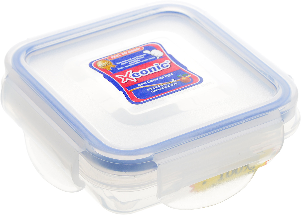 Контейнер Xeonic, цвет: прозрачный, синий, 110 млVAC-REC-Smaller RedПластиковые герметичные контейнеры для хранения продуктов Xeonic произведены из высококачественных материалов, имеют 100% герметичность, термоустойчивы, могут быть использованы в микроволновой печи и в морозильной камере, устойчивы к воздействию масел и жиров, не впитывают запах. Удобны в использовании, долговечны, легко открываются и закрываются, не занимают много места, можно мыть в посудомоечной машине. Размер: 7,5 см х 7,5 см х 2,5 см.