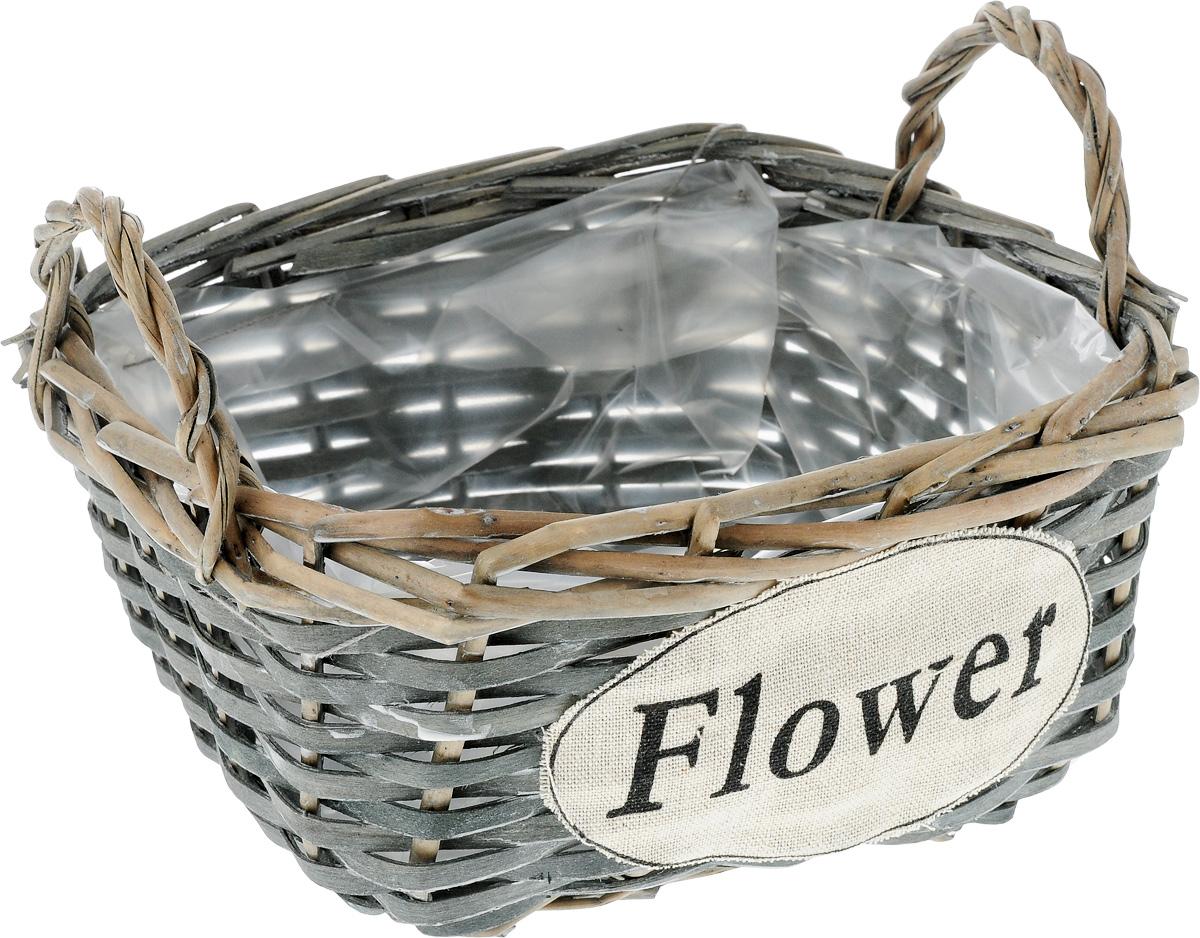 Кашпо квадратное Engard Flower, с ручками, 15 х 15 х 9 смK100Квадратное плетеное кашпо с ручками Engard Flower из натурального дерева и ивовой лозы выглядит необычно и стильно. Внутренняя поверхность снабжена полиэтиленом. Прочное плетение обеспечивает устойчивость. С внешней стороны кашпо дополнено текстильным элементом с надписью Flower. Красивое и экологичное кашпо станет прекрасным украшением интерьера. Оригинальный дизайн в стиле прованс создаст уют в доме и оживит интерьер.