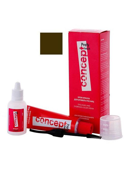 Сoncept Profy Touch Крем-краска для бровей и ресниц Коричневый, 30/20 мл20323Крем-краска великолепно смешивается с оксидантом в пластичную массу. Легко наносится. Обеспечивает равномерное и стойкое окрашивание. Мягко воздействует на чувствительную кожу в области глаз. Не содержит аммиака. Полученный цвет сохраняется в течение 3-4 недель.В мини-сет входит все необходимое для комфортной работы: крем-краска + оксидант + стаканчик + кисточка для нанесения. ?Тонкий наконечник позволит наносить небольшие «штрихи» ?Очень удобно делать тонкие , четкие линии?Легко корректировать форму и рисунок бровей при нанесении.?Аппликатор «забирает» необходимое количество красителя, без излишков, обеспечивая аккуратное нанесение крем-краски.?Удобно окрашивать ресницы, при помощи аппликатора вы можете легко прокрасить каждый волосок.? Компактная форма, удобная для работы.? Легко мыть и использовать при повторном окрашиваниия Придайте вашим бровям идеальную форму!