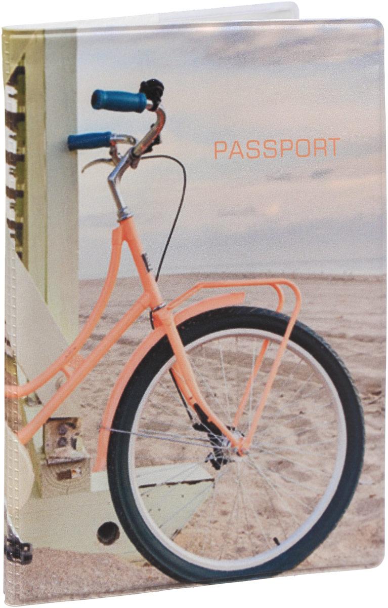 Обложка для паспорта Kawaii Factory Summer bike, цвет: бежевый. KW064-000203ADYHA03419-KVJ1Обложка для паспорта от Kawaii Factory - оригинальный и стильный аксессуар, который придется по душе истинным модникам и поклонникам интересного и необычного дизайна.Качественная обложка выполнена из легкого и прочного ПВХ с приятной фактурой, который надежно защищает важные документы от пыли и влаги. Рисунок нанесён специальным образом и защищён от стирания.Изделие раскладывается пополам. Внутри размещены два накладных кармашка из прозрачного ПВХ.