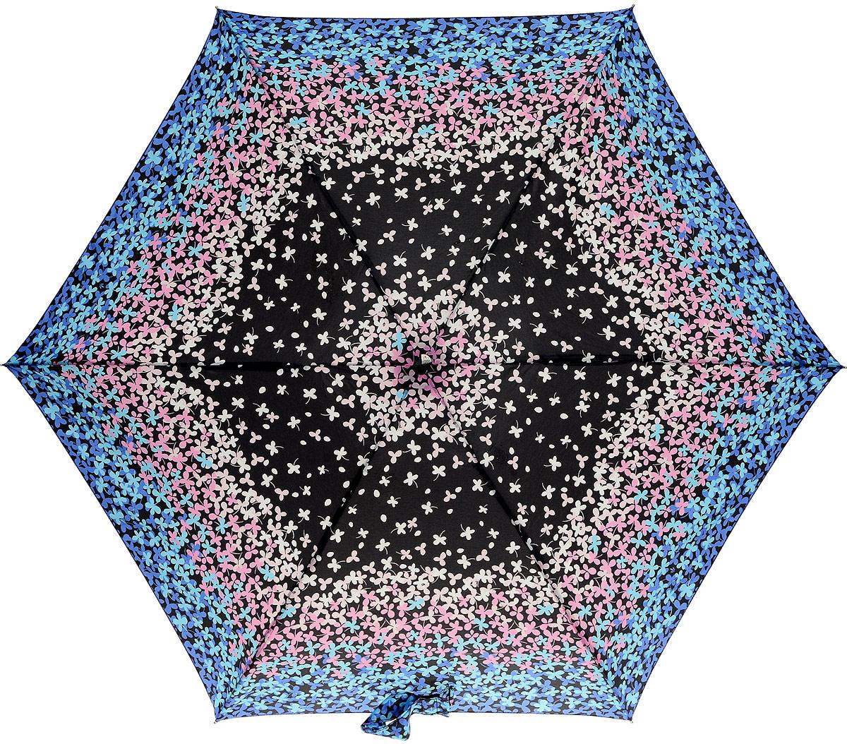 Зонт женский Fulton, механический, 5 сложений, цвет: мультиколор. L501-3367Колье (короткие одноярусные бусы)Стильный механический зонт Fulton имеет 5 сложений, даже в ненастную погоду позволит вам оставаться стильной. Легкий, но в тоже время прочный алюминиевый каркас состоит из шести спиц с элементами из фибергласса. Купол зонта выполнен из прочного полиэстера с водоотталкивающей пропиткой. Рукоятка закругленной формы, разработанная с учетом требований эргономики, выполнена из каучука. Зонт имеет механический способ сложения: и купол, и стержень открываются и закрываются вручную до характерного щелчка.