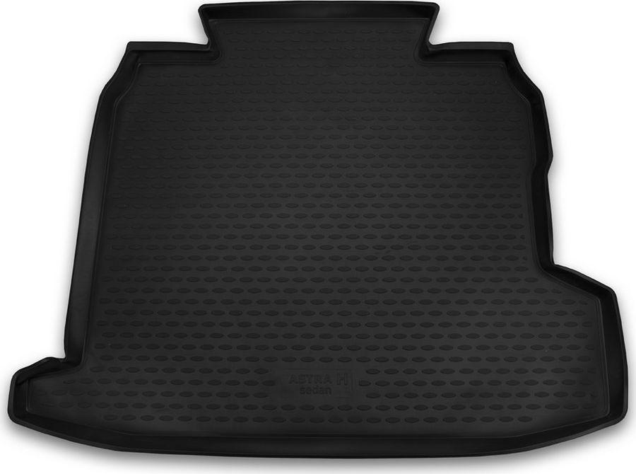 Коврик автомобильный Novline-Autofamily, для автомобиля OPEL Astra H 2007->, сед., цвет: черный, в багажникNLC.37.02.B10Качественный продукт, новый полимерный материал, антискользящий рельеф, идеальная подходимость, гигиенические сертификаты, экспортируются в западную Европу. Три цвета на выбор - серый, бежевый, черный.