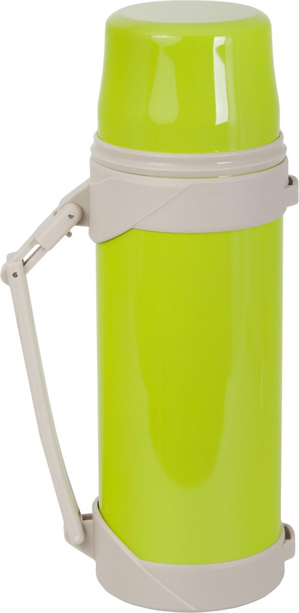 Термос Indiana BSX, со складной ручкой, цвет: салатовый, бежевый, 1,2 л320400020Термос Indiana BSX, выполненный из пластика и нержавеющей стали, позволяет сохранять напитки горячими и холодными длительное время. Термос надежно закрывается пластиковой пробкой, которая снабжена кнопкой для дозирования напитков, позволяющая наливать жидкости без отвинчивания. На пробку одевается откручивающаяся крышка. Прочная эргономичная складная ручка делает использование термоса легким и удобным.Термос Indiana BSX отлично подойдет для хранения и транспортировки жидкостей.