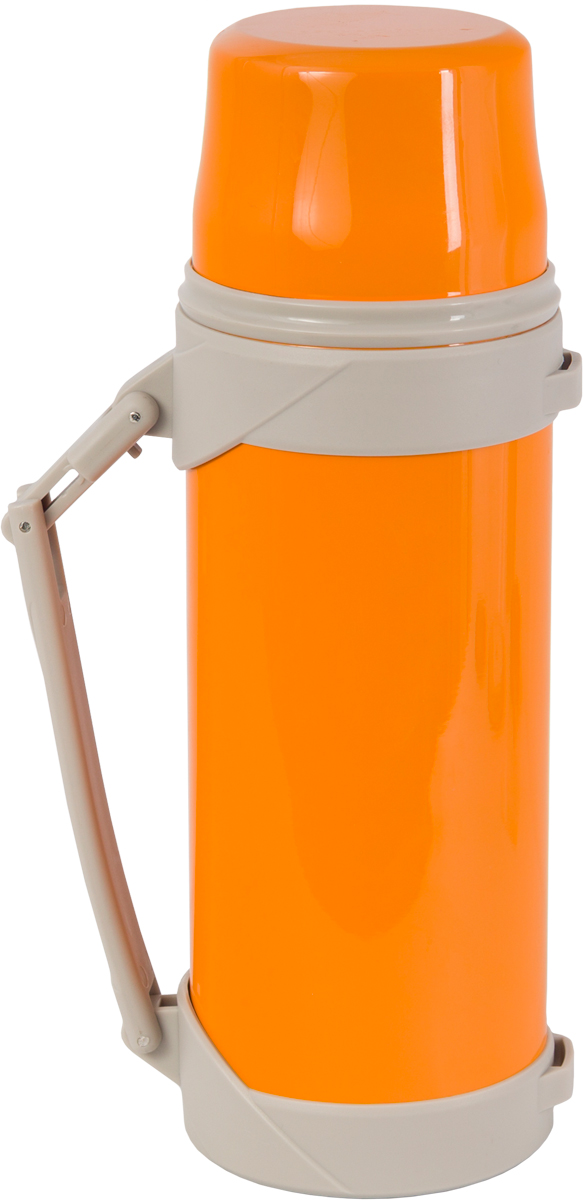 Термос Indiana BSX, со складной ручкой, цвет: оранжевый, бежевый, 1,2 л320400029Термос Indiana BSX, выполненный из пластика и нержавеющей стали, позволяет сохранять напитки горячими и холодными длительное время. Термос надежно закрывается пластиковой пробкой, которая снабжена кнопкой для дозирования напитков, позволяющая наливать жидкости без отвинчивания. На пробку одевается откручивающаяся крышка. Прочная эргономичная складная ручка делает использование термоса легким и удобным.Термос Indiana BSX отлично подойдет для хранения и транспортировки жидкостей.