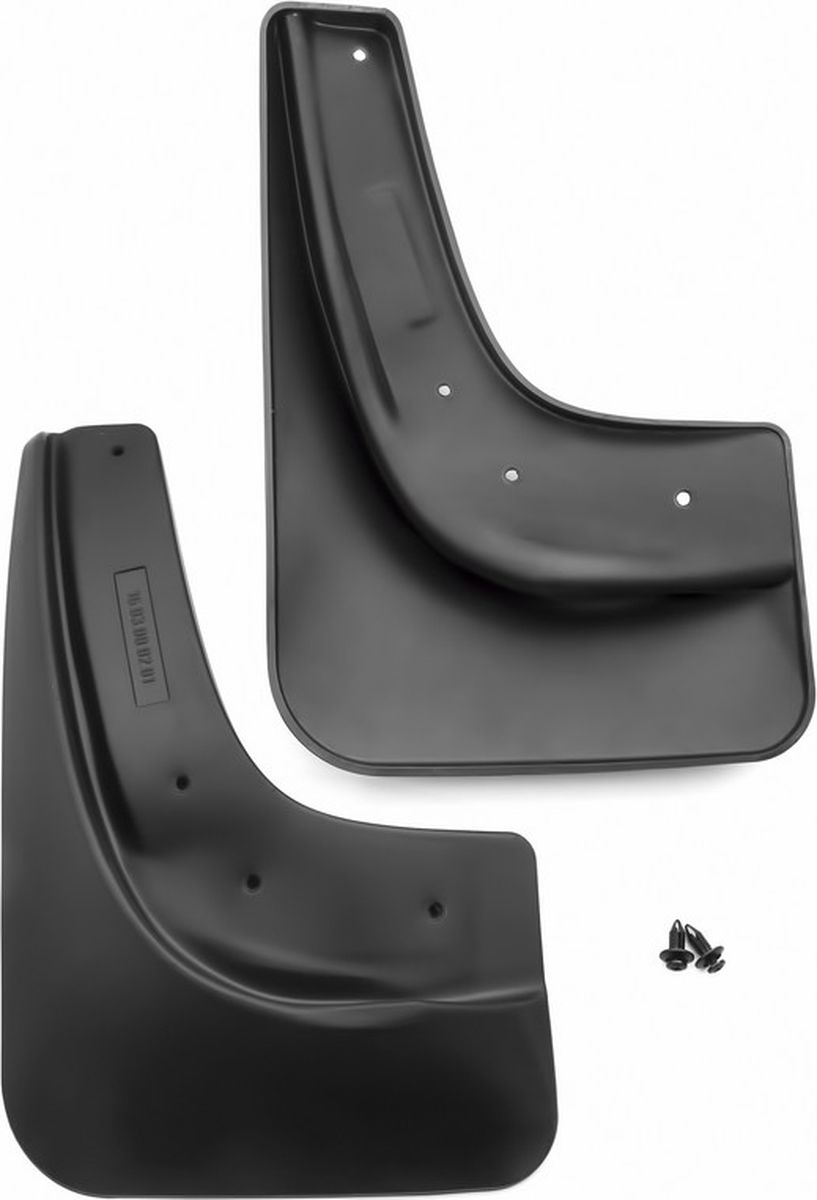 Комплект брызговиков задних Novline-Autofamily для Ford Focus, 2004-2011, 2 шт. NLF.16.03.E117001092361Комплект Novline-Autofamily состоит из 2 задних брызговиков, изготовленных из высококачественного полиуретана. Изделия эффективно защищают кузов автомобиля от грязи и воды, формируют аэродинамический поток воздуха, создаваемый при движении вокруг кузова таким образом, чтобы максимально уменьшить образование грязевой измороси, оседающей на автомобиле. Разработаны индивидуально для каждой модели автомобиля. С эстетической точки зрения брызговики являются завершением колесных арок.