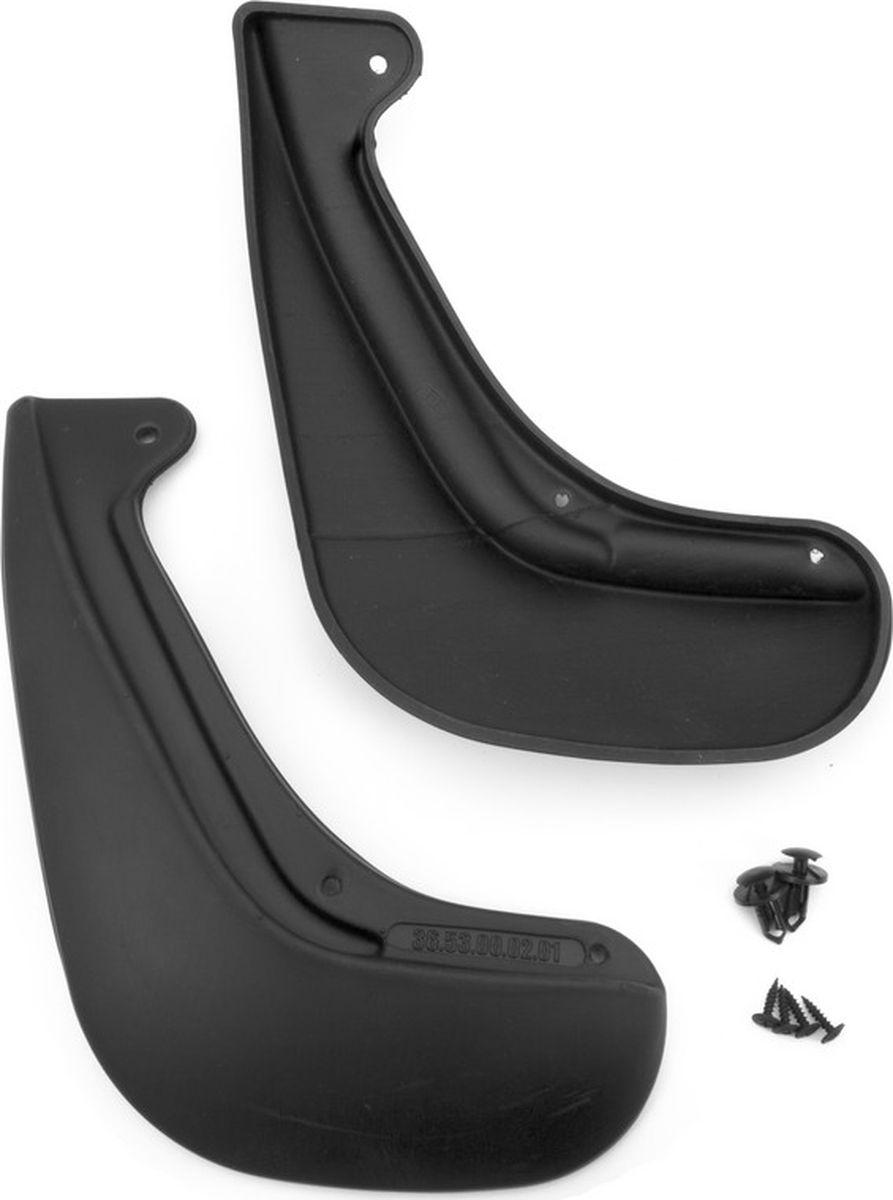 Комплект брызговиков задних Novline-Autofamily для Nissan Juke внедорожник, 2014-, 2 шт7009100261Комплект Novline-Autofamily состоит из 2 задних брызговиков, изготовленных из высококачественного полиуретана. Изделия эффективно защищают кузов автомобиля от грязи и воды, формируют аэродинамический поток воздуха, создаваемый при движении вокруг кузова таким образом, чтобы максимально уменьшить образование грязевой измороси, оседающей на автомобиле. Разработаны индивидуально для каждой модели автомобиля. С эстетической точки зрения брызговики являются завершением колесных арок.