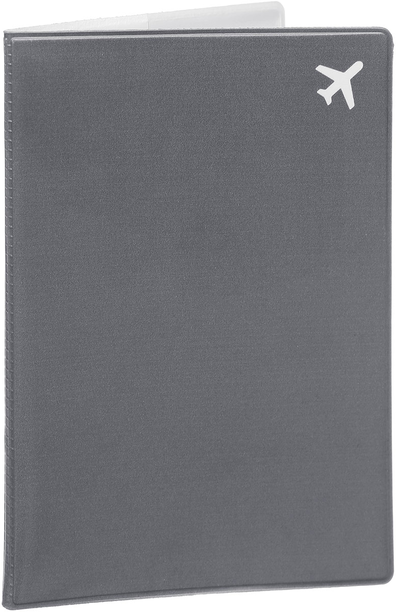 Обложка для паспорта Kawaii Factory Самолет, цвет: серый. KW064-00025696508Обложка для паспорта от Kawaii Factory - оригинальный и стильный аксессуар, который придется по душе истинным модникам и поклонникам интересного и необычного дизайна.Качественная обложка выполнена из легкого и прочного ПВХ с приятной фактурой, который надежно защищает важные документы от пыли и влаги. Рисунок нанесён специальным образом и защищён от стирания.Изделие раскладывается пополам. Внутри размещены два накладных кармашка из прозрачного ПВХ.