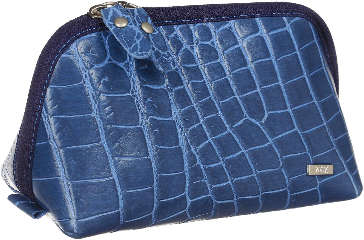 Косметичка женская Esse Претти, цвет: синий. GPRE00-00ML00-FG108S-K1003607869410673Косметичка изготовлена из натуральной кожи. Имеет актуальную вместительную форму. Закрывается на двустороннюю молнию.
