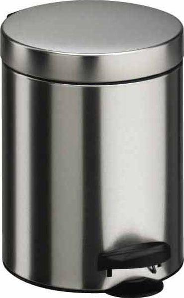 Мусорное ведро Meliconi, цвет: матовый стальной, объем 14 л4101Ведро для мусора Meliconi вместительностью 14 л. отличается практичностью в использовании и простотой в уходе. Прекрасно подойдет для ванной комнаты, туалета или кухни. Изготовлено из высококачественной матовой стали. Благодаря использованию качественных и прочным материалов туба ведра и крышка при нажатии не проминаются и не выгибаются. Защитое покрытие предохраняет поверхность изделия от разводов и отпечатков пальцев. Ведро оснащено отдельным внутренним пластиковым ведерком, которое обеспечивает удобную очистку и вынос мусора. Благодаря точному механизму крышка ведра открывается легко и плавно при нажатии на педаль, закрывается бесшумно и плотно, исключая попадание запахов в помещение. Пластиковое основание не позволяет ведру скользить по полу, защищая напольное покрытие от царапин и других повреждений. Стильный и лаконичный дизайн позволит ведру вписаться в любой интерьер.