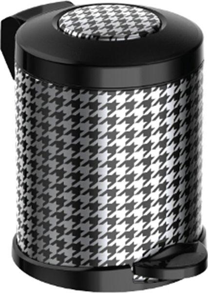 Мусорное ведро Meliconi Стиль Пье де Пуль, цвет: черный, стальной, объем 5 л5672Ведро для мусора Meliconi вместительностью 5 л. отличается практичностью в использовании и простотой в уходе. Благодаря небольшим габаритам прекрасно подойдет для ванной комнаты, туалета или кухни. Изготовлено из высококачественной матовой стали. Благодаря использованию качественных и прочным материалов туба ведра и крышка при нажатии не проминаются и не выгибаются. Защитое покрытие предохраняет поверхность изделия от разводов и отпечатков пальцев. Ведро оснащено отдельным внутренним пластиковым ведерком, которое обеспечивает удобную очистку и вынос мусора. Благодаря точному механизму крышка ведра открывается легко и плавно при нажатии на педаль, закрывается бесшумно и плотно, исключая попадание запахов в помещение. Пластиковое основание не позволяет ведру скользить по полу, защищая напольное покрытие от царапин и других повреждений. Стильный и лаконичный дизайн позволит ведру вписаться в любой интерьер.