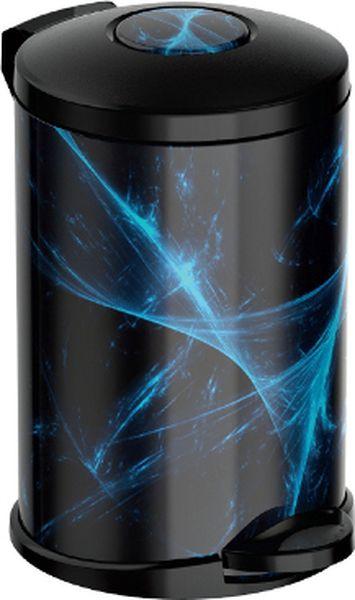Мусорное ведро Meliconi Стиль Энерджи, цвет: черный, синий, объем 14 л5677Ведро для мусора Meliconi вместительностью 14 л. отличается практичностью в использовании и простотой в уходе. Прекрасно подойдет для ванной комнаты, туалета или кухни. Изготовлено из высококачественной матовой стали. Благодаря использованию качественных и прочным материалов туба ведра и крышка при нажатии не проминаются и не выгибаются. Защитое покрытие предохраняет поверхность изделия от разводов и отпечатков пальцев. Ведро оснащено отдельным внутренним пластиковым ведерком, которое обеспечивает удобную очистку и вынос мусора. Благодаря точному механизму крышка ведра открывается легко и плавно при нажатии на педаль, закрывается бесшумно и плотно, исключая попадание запахов в помещение. Пластиковое основание не позволяет ведру скользить по полу, защищая напольное покрытие от царапин и других повреждений. Приятным дополнением является оригинальный дизайн, который позволит ведру идеально вписаться даже в самый необычный интерьер.