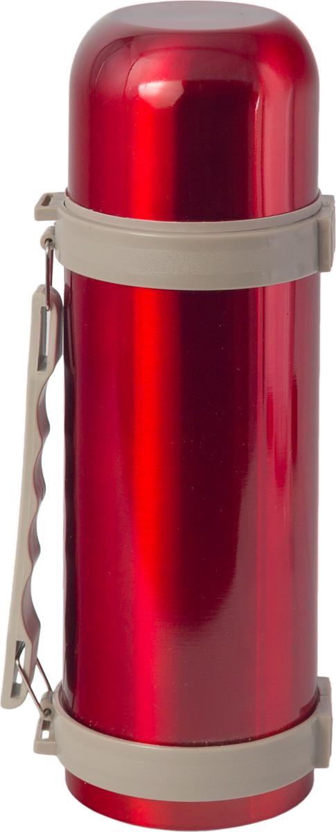 Термос Indiana H003, цвет: красный, бежевый, 1,2 л320400031Термос Indiana H003, выполненный из пластика и нержавеющей стали, позволяет сохранять напитки горячими и холодными длительное время. Термос надежно закрывается пластиковой пробкой, которая снабжена кнопкой для дозирования напитков, позволяющая наливать жидкости без отвинчивания. Эргономичная подвижная ручка делает использование термоса легким и удобным.Термос Indiana H003 отлично подойдет для хранения и транспортировки жидкостей.