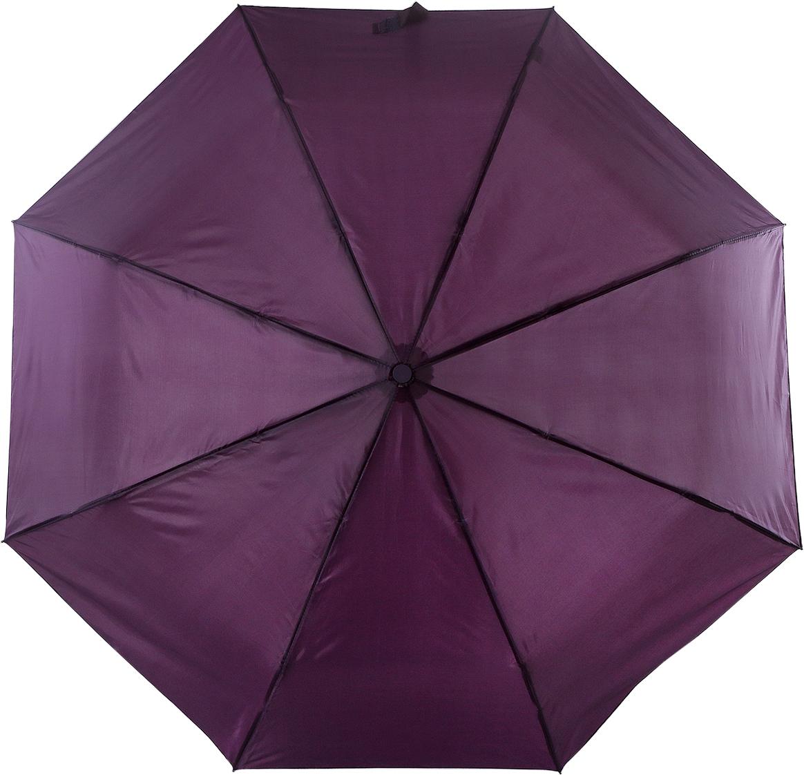 Зонт женский Torm, цвет: бардовый. 3731-03Колье (короткие одноярусные бусы)Классический женский зонт в 3 сложения полный автомат. Удобная ручка выполнена из пластика. Модель зонта выполнена в стандартном размере, оснащена системой Антиветер. Этот стильный аксессуар поместится практически в любую женскую сумочку благодаря своим небольшим размерам.