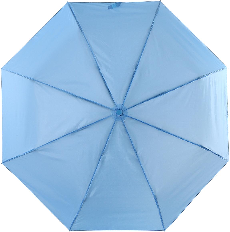 Зонт женский Torm, цвет: голубой. 3731-0445100032/35449/3537AКлассический женский зонт в 3 сложения полный автомат. Удобная ручка выполнена из пластика. Модель зонта выполнена в стандартном размере, оснащена системой Антиветер. Этот стильный аксессуар поместится практически в любую женскую сумочку благодаря своим небольшим размерам.