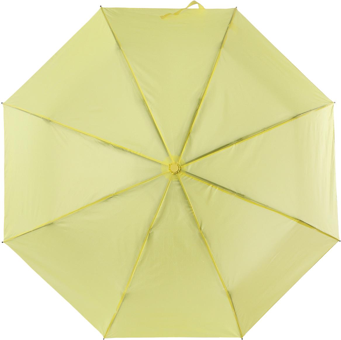 Зонт женский Torm, цвет: желтый. 3731-0645100019/18303/2900NКлассический женский зонт в 3 сложения полный автомат. Удобная ручка выполнена из пластика. Модель зонта выполнена в стандартном размере, оснащена системой Антиветер. Этот стильный аксессуар поместится практически в любую женскую сумочку благодаря своим небольшим размерам.