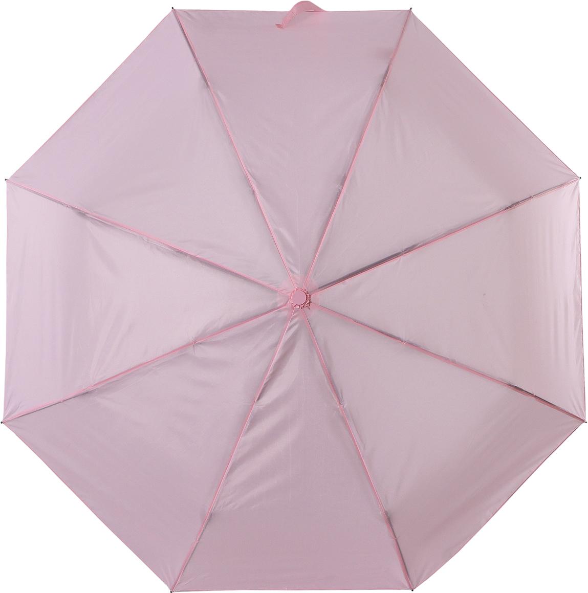 Зонт женский Torm, цвет: светло-розовый. 3731-12K60K602461_0010Классический женский зонт в 3 сложения полный автомат. Удобная ручка выполнена из пластика. Модель зонта выполнена в стандартном размере, оснащена системой Антиветер. Этот стильный аксессуар поместится практически в любую женскую сумочку благодаря своим небольшим размерам.