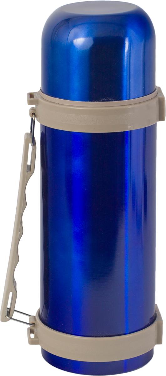 Термос Indiana H003, цвет: синий, бежевый, 1,2 л320400019Термос Indiana H003, выполненный из пластика и нержавеющей стали, позволяет сохранять напитки горячими и холодными длительное время. Термос надежно закрывается пластиковой пробкой, которая снабжена кнопкой для дозирования напитков, позволяющая наливать жидкости без отвинчивания. Эргономичная подвижная ручка делает использование термоса легким и удобным.Термос Indiana H003 отлично подойдет для хранения и транспортировки жидкостей.