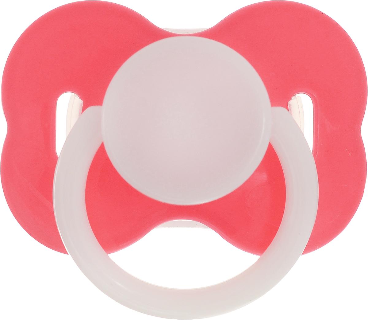 Lubby Пустышка силиконовая с колпачком от 0 месяцев цвет коралловый