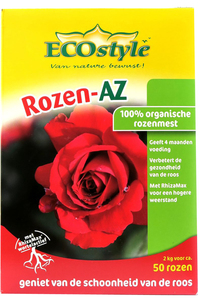 Натуральное органическое удобрение EcoStyle, для Роз и любых цветущих растений, 2 кг на 100 м2BT-08100% натуральное органическое удобрение, в котором содержание основных макро- и микроэлементов оптимально для любых сортов роз и других цветущих растений, кроме кислотолюбивых. Разработано для профессионального применения, отвечает самым жёстким требованиям к экологической безопасности. Содержит смесь почвенных микроорганизмов, обеспечивающих удобрению высокую эффективность.Основные свойства удобрения «Розен-АЗет»:•обладает быстрым и длительным действием, полностью обеспечивает растения питанием в течение 4-х месяцев;•обеспечивает обильное цветение и насыщенные цвета;•активирует биологические процессы в почве и улучшает её физическую структуру (способствует образованию пор, доступу воздуха, воды и питательных веществ);•не вымывается из почвы после дождей, не разрушается от холода;•защищает растения от фитопатогенов, способствует разложению токсических веществ в почве.Удобрение «Розен-АЗет» изготавливается из высококачественного сырья естественного происхождения. Не содержит генетически-модифицированных ингредиентов и микроорганизмов.