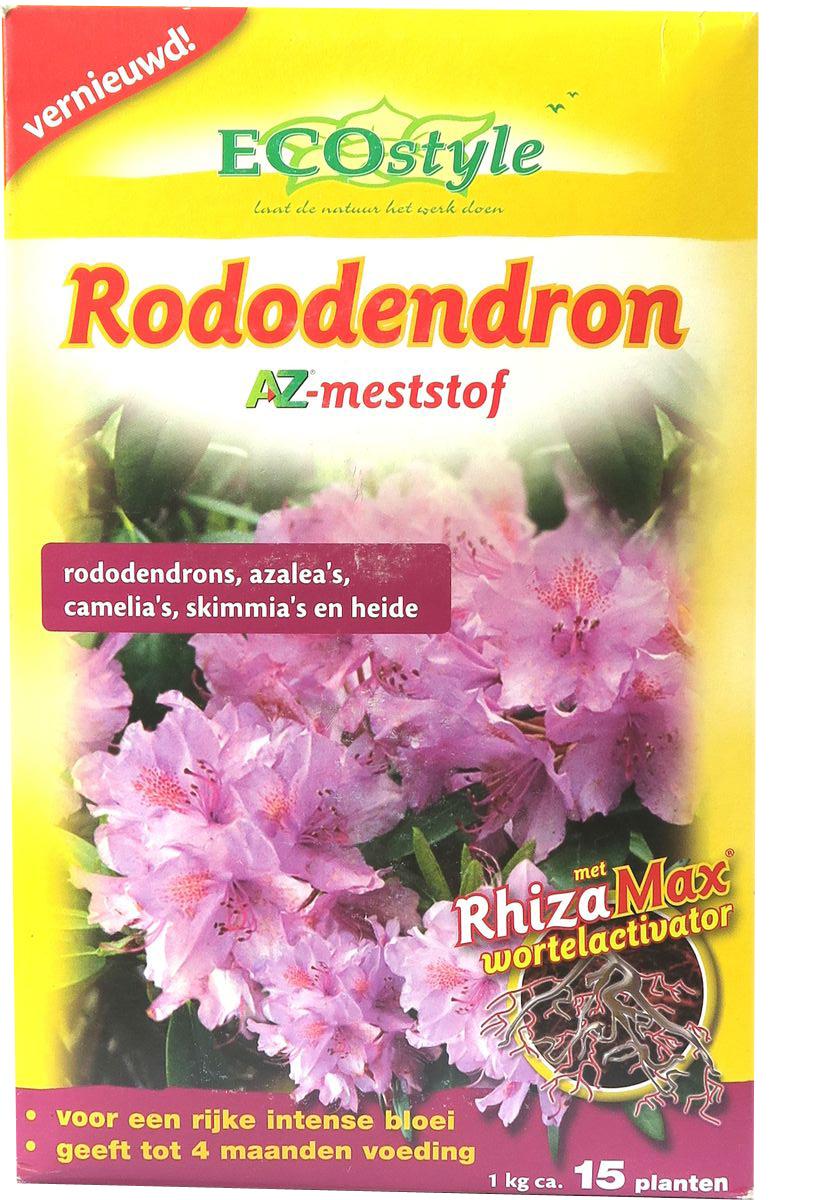 Натуральное органическое удобрение  EcoStyle , для любых сортов РОДОДЕНДРОНОВ и др. растений,предпочитающих кислые почвы, 1 кг на 10 м2 - Грунт и удобрения