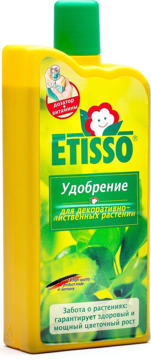 Удобрение Etisso, для декоративно-лиственных растений, 1000 млУУдцрЖидкое удобрение Etisso предназначено для декоративно-лиственных растений в горшках и на грядках, в доме, на балконе, террасе и в открытом грунте. Удобрение содержит специальный комплекс веществ в легко усвояемой и идеально сбалансированной форме, необходимых для полноценного питания растений вне периода цветения. Это комплексное концентрированное удобрение стимулирует активный рост и развитие ваших растений круглый год, придает листьям яркую и сочную окраску. Благоприятно влияет на развитие корневой системы.