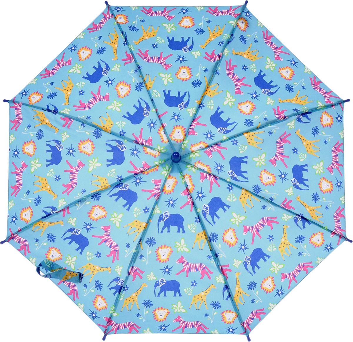 Зонт-трость детский Fulton, механический, цвет: голубой. C724-3390Пуссеты (гвоздики)Яркий механический зонт-трость Fulton даже в ненастную погоду позволит вашему ребенку оставаться стильным. Каркас зонта включает 8 спиц из фибергласса. Стержень изготовлен из прочного алюминия. Купол зонта выполнен из качественного полиэстера.Рукоятка закругленной формы, разработанная с учетом требований эргономики, выполнена из качественного пластика.Зонт механического сложения: купол открывается и закрывается вручную до характерного щелчка. Такой зонт не только надежно защитит вас от дождя, но и станет стильным аксессуаром, который идеально подчеркнет ваш неповторимый образ.