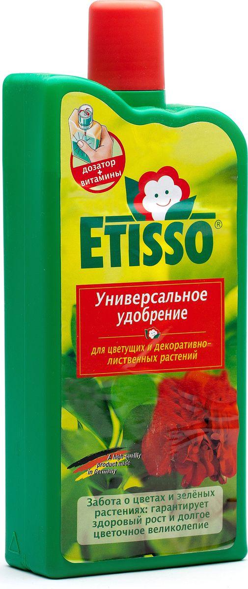 Жидкое Удобрение Etisso, для зеленых и цветущих растений, 1000 млУУояУниверсальное жидкое удобрение Etisso содержит специальный комплекс веществ в легко усвояемой и идеально сбалансированной форме, необходимых для полноценного питания растений вне и во время цветения. Это комплексное концентрированное удобрение ускоряет начало цветения, стимулирует образование многочисленных бутонов, способствует обильному пышному и долгому росту ваших растений. Обеспечивает насыщенную окраску цветов. Для нецветущих растений и вне периода цветения это удобрение стимулирует активный рост и развитие ваших растений круглый год, придает листьям яркую и сочную окраску. Благоприятно влияет на развитие корневой системы.