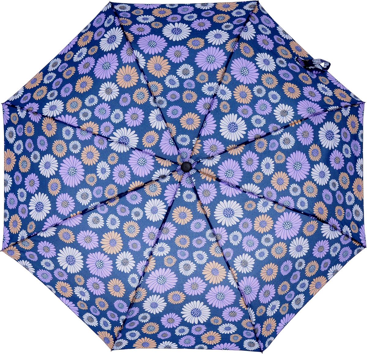 Зонт женский Mitya Veselkov, цвет: синий, 2 сложения. ZONT4-03K60K602461_0010Прекрасный надежный автоматический зонт Mitya Veselkov с модным цветочным принтом укроет от дождя и станет стильным аксессуаром, дополняющим Ваш образ. Удобная ручка из материала приятного на ощупь. В комплекте чехол для зонта. Ширина купола — 100 см