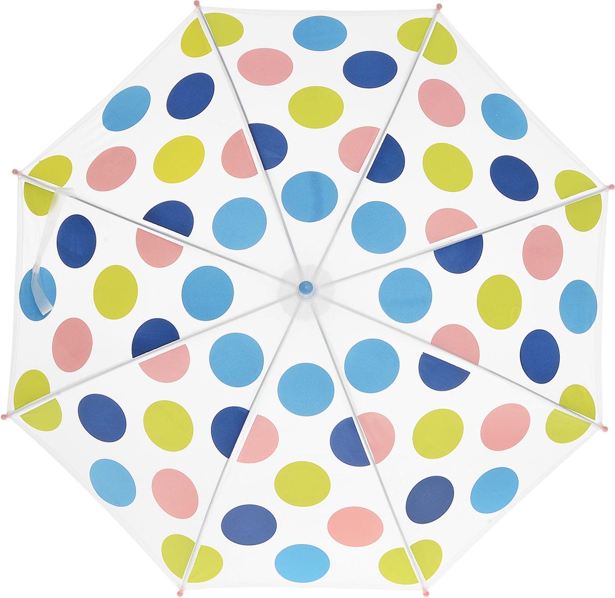 Зонт для девочки PlayToday, цвет: белый, синий, голубой, розовый, салатовый. 178702. Размер 41.5W0A53US01Этот зонтик обязательно понравится Вашему ребенку! Оснащен специальной безопасной системой открывания и закрывания. Материал каркаса ветроустойчивый. Концы спиц снабжены пластмассовыми наконечниками для защиты от травм. Такой зонт идеально подойдет для прогулок в дождливую погоду.