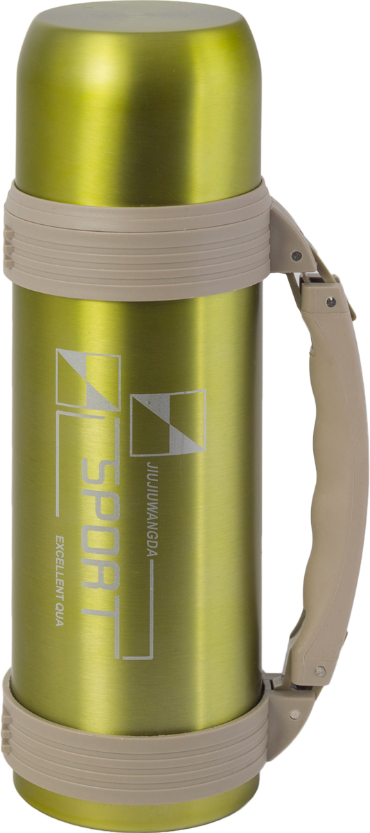 Термос Indiana WD 3603, со складной ручкой, цвет: оливковый, бежевый, 1,2 л320400040Термос Indiana WD 3603, выполненный из нержавеющей стали и пластика, позволяет сохранять напитки горячими и холодными длительное время. Термос надежно закрывается пластиковой пробкой, которая снабжена кнопкой для дозирования напитков, позволяющая наливать жидкости без отвинчивания. Прочная эргономичная складная ручка делает использование термоса легким и удобным.Термос Indiana WD 3603 отлично подойдет для хранения и транспортировки жидкостей.