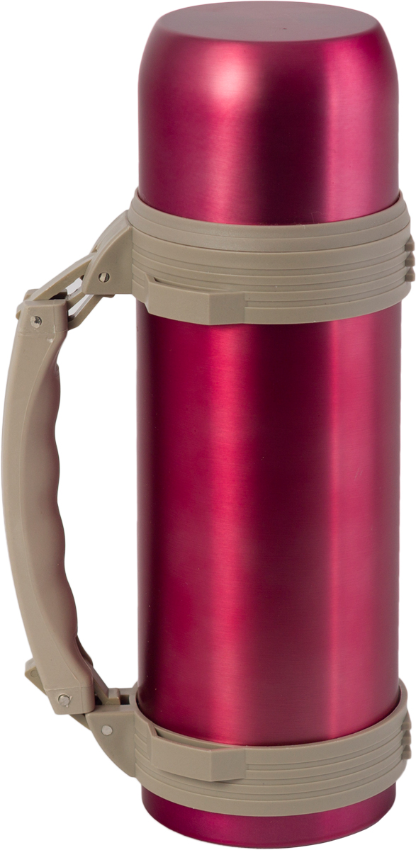 Термос Indiana WD 3603, со складной ручкой, цвет: фуксия, бежевый, 1,2 л320400038Термос Indiana WD 3603, выполненный из нержавеющей стали и пластика, позволяет сохранять напитки горячими и холодными длительное время. Термос надежно закрывается пластиковой пробкой, которая снабжена кнопкой для дозирования напитков, позволяющая наливать жидкости без отвинчивания. Прочная эргономичная складная ручка делает использование термоса легким и удобным.Термос Indiana WD 3603 отлично подойдет для хранения и транспортировки жидкостей.