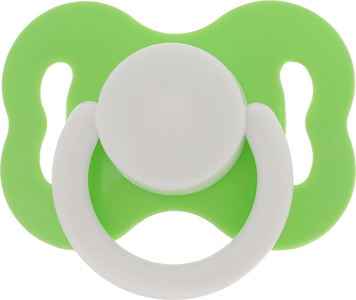 Lubby Пустышка латексная Круглая с кольцом 0 месяцев цвет зеленый