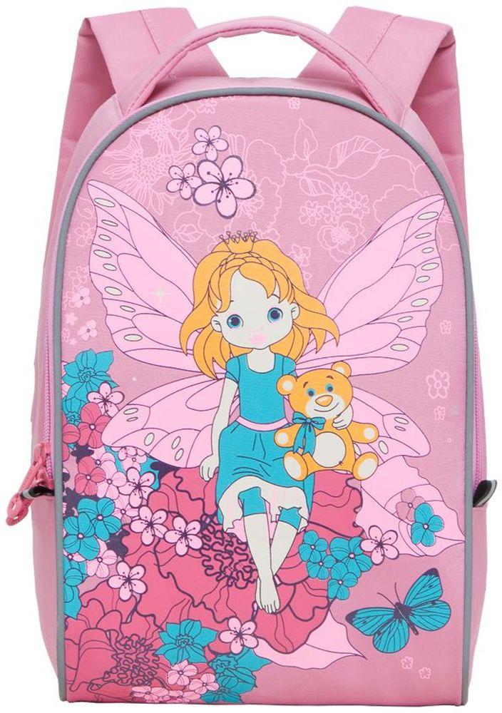 Grizzly Рюкзак детский цвет розовый RS-218-2-1730396Рюкзак детский с одним отделением, со светоотражающими элементами, мягкими лямками и ручкой, укрепленной спинкой, с ручкой для переноски.