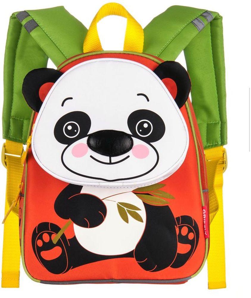 Grizzly Рюкзак детский ПандаRS-546-1/3Рюкзак малый, одно отделение, объемный карман на молнии на передней стенке, внутренний карман, укрепленная спинка, мягкие лямки, светоотражающие элементы с четырех сторон.